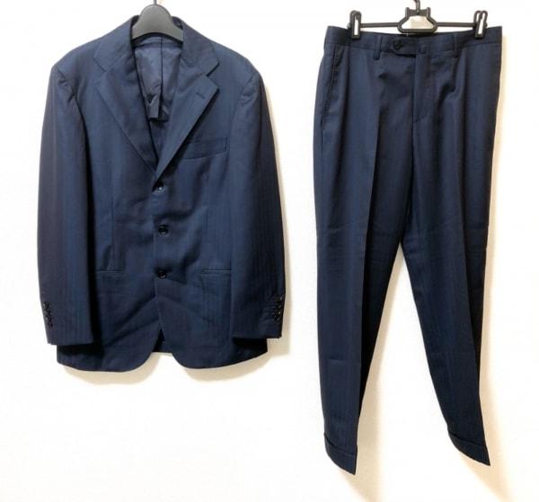 リングジャケット シングルスーツ サイズ46 XL メンズ美品  ダークネイビー