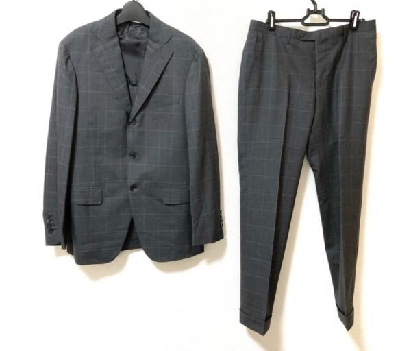 リングジャケット シングルスーツ サイズ46 XL メンズ美品  チャコールグレー