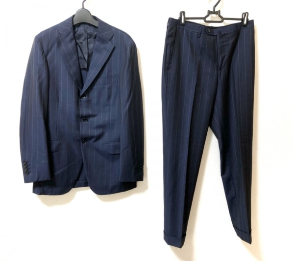 RING JACKET(リングジャケット) シングルスーツ サイズ46 XL メンズ美品  ネイビー