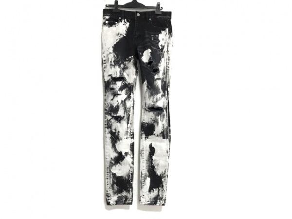 サンローランパリ ジーンズ サイズ30 メンズ 黒×白 ダメージ加工
