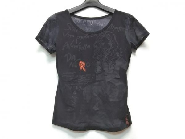 NERO(ネロ/センソユニコ) 半袖Tシャツ サイズ38 M レディース 黒×ダークグレー