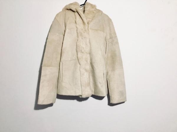 リトルニューヨーク コート サイズ4 XL レディース ベージュ 冬物/ファー