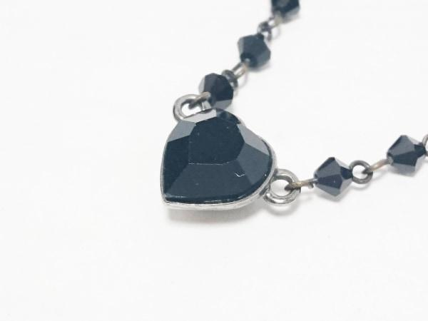 AGATHA(アガタ) ネックレス 金属素材×プラスチック シルバー×黒 ハート