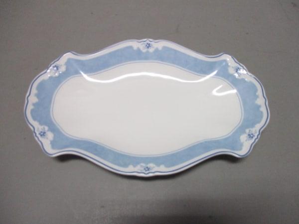 HUTSCHENREUTHER(フッチェンロイター) プレート新品同様  白×ライトブルー 陶器
