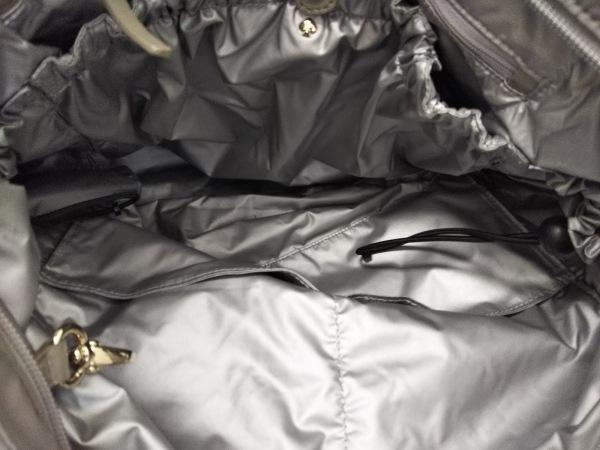 ケイトスペード ショルダーバッグ美品  S363 グレー マザーズバッグ/キルティング