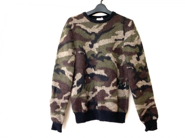 サンローランパリ 長袖セーター サイズXS メンズ美品  369274 迷彩柄