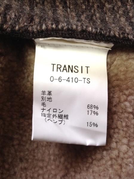 TRANSIT(トランジット) ブルゾン サイズ3 L レディース ダークブラウン×ベージュ