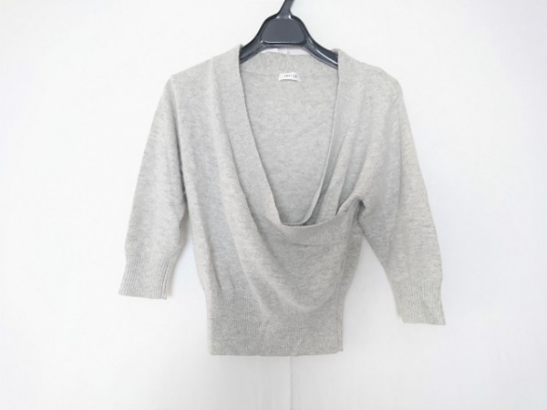 FRAY I.D(フレイアイディー) 七分袖セーター サイズ0 XS レディース ライトグレー