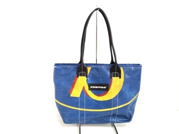 FREITAG(フライターグ) ハンドバッグ ブルー×イエロー×レッド PVC(塩化ビニール)
