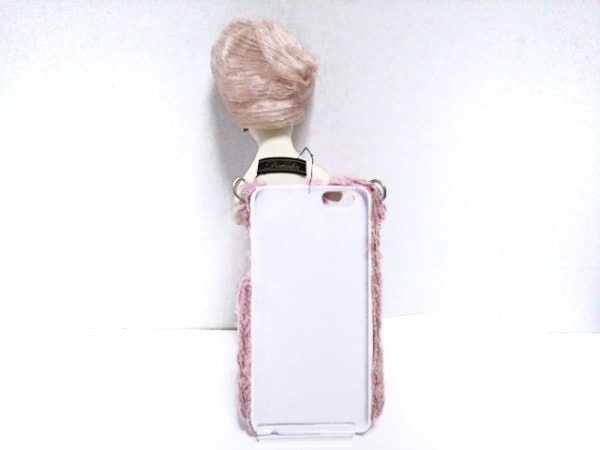 Demodee(デモデ) 携帯電話ケース 白×ピンク×マルチ 2