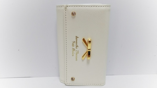 サマンサタバサプチチョイス キーケース美品  アイボリー 5連フック 合皮