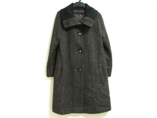 ラピスルーチェ コート サイズ38 M レディース ダークブラウン×黒 冬物