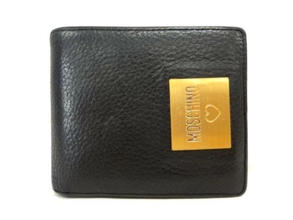 MOSCHINO(モスキーノ) 2つ折り財布 黒 レザー
