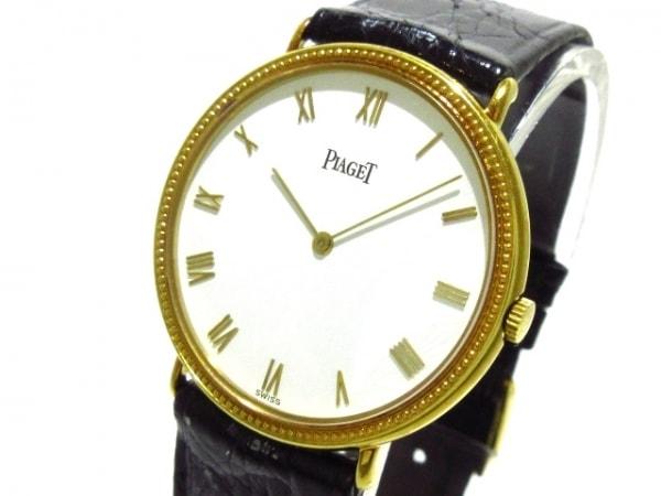 PIAGET(ピアジェ) 腕時計 90231 レディース K18YG/革ベルト 白