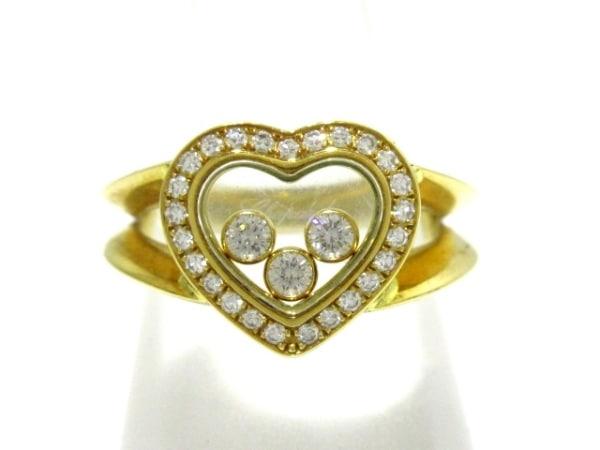 Chopard(ショパール) リング美品  ハッピーダイヤ 82/4502 K18YG×ダイヤモンド