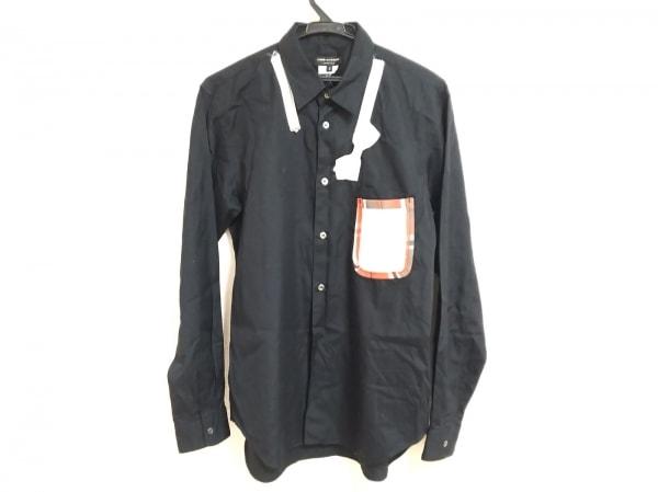 コムデギャルソンオムプリュス 長袖シャツ サイズS メンズ 黒×白×マルチ