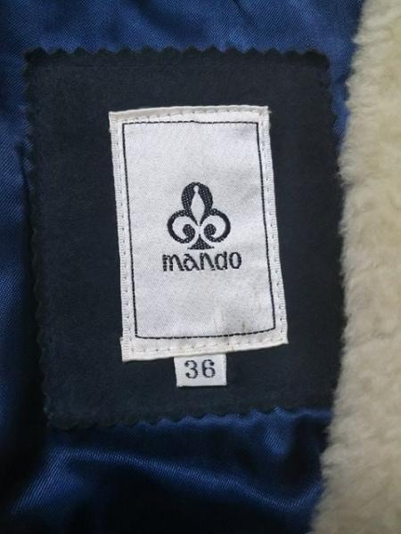 mando(マンド) ダッフルコート サイズ36 S レディース ダークグレー×ベージュ 冬物