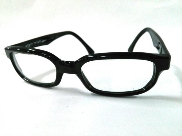 ALAIN MIKLI(アランミクリ) メガネ 1729 黒×クリア プラスチック×金属素材