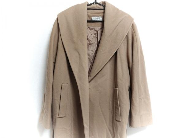 CalvinKlein(カルバンクライン) コート サイズ8 M レディース美品  ベージュ 冬物