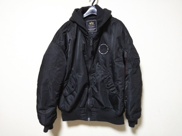 ALPHA INDUSTRIES(アルファ) ダウンジャケット サイズL レディース美品  黒 冬物