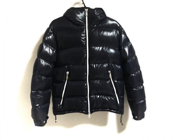 モンクレール ダウンジャケット サイズ2 M メンズ美品  BLIER/ブリエ ネイビー×白