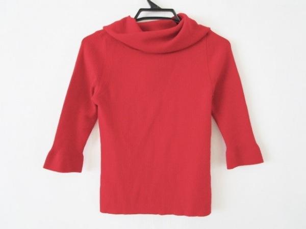 23区(ニジュウサンク) 七分袖セーター サイズ38 M レディース レッド