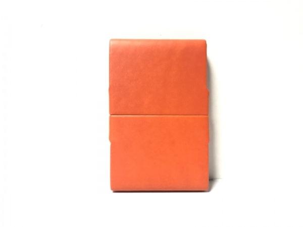 GIORGIOFEDON(ジョルジオフェドン) シガレットケース美品  オレンジ レザー