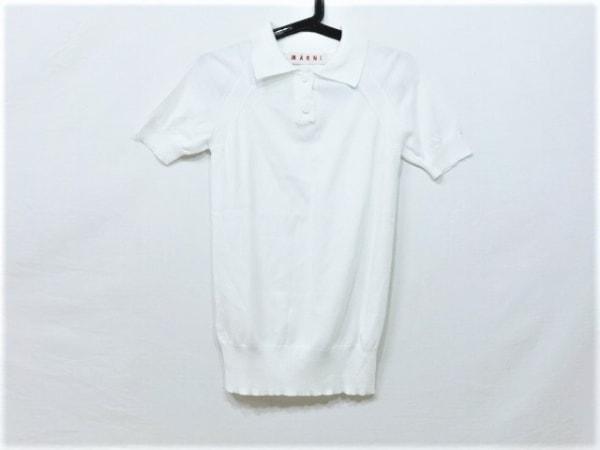 MARNI(マルニ) 半袖ポロシャツ サイズ38 S レディース美品  白 ニット