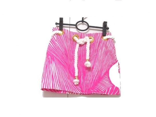 MILLY(ミリー) ミニスカート サイズ2 S レディース ピンク×白