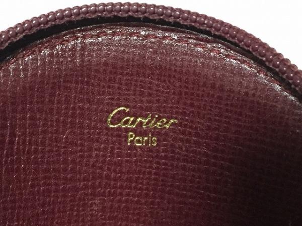 Cartier(カルティエ) コインケース マストライン ボルドー×ゴールド レザー