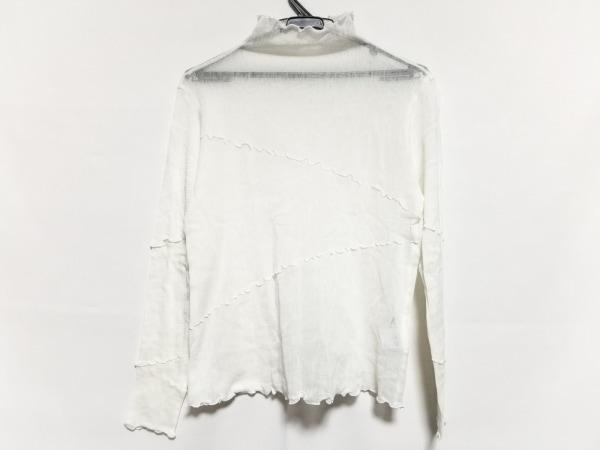 ジウ/センソユニコ 長袖カットソー サイズ40 M レディース美品  白 シースルー/フリル
