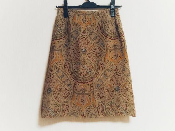 トゥモローランド スカート サイズ36 S レディース美品  ベージュ×レッド×マルチ