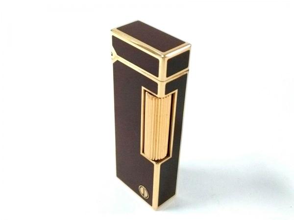 ダンヒル ライター美品  ボルドー×ゴールド 着火確認できず 金属素材