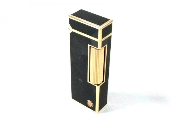 ダンヒル ライター ネイビー×ゴールド 着火確認できず 金属素材