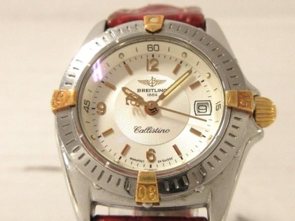 ブライトリング 腕時計 カリスティーノ B52045 レディース 革ベルト シルバー