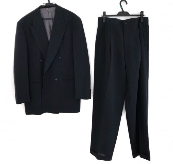 BARREAUX(バルー) ダブルスーツ サイズ50 メンズ ダークネイビー 肩パッド