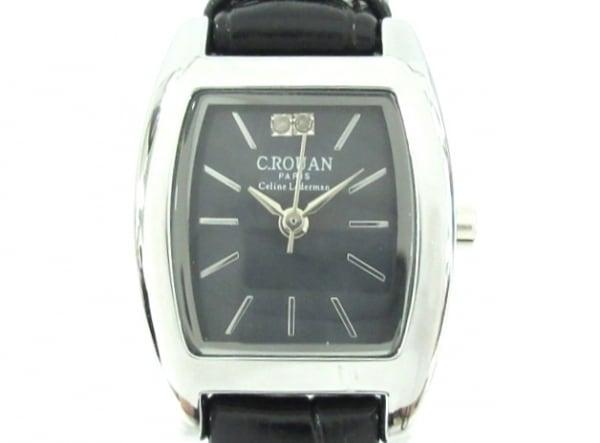 C.ROUAN(セ.ルーアン) 腕時計 - レディース 革ベルト/型押し加工 ダークネイビー