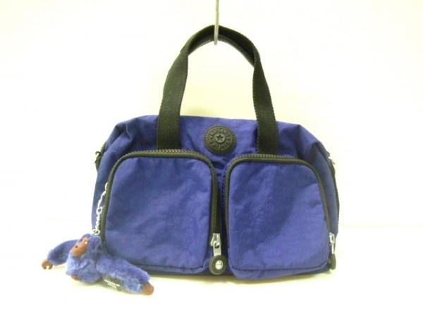 Kipling(キプリング) ハンドバッグ美品  ブルー ナイロン