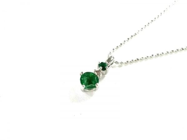 ノーブランド ネックレス美品  K18WG×カラーストーン×ダイヤモンド