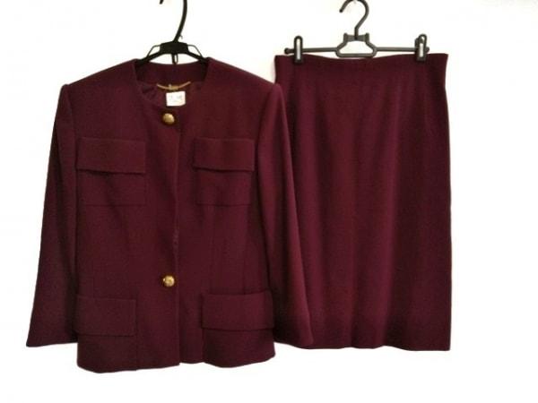 CELINE(セリーヌ) スカートスーツ サイズ40 M レディース ボルドー