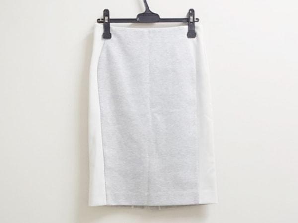 ADORE(アドーア) スカート サイズ38 M レディース美品  ライトグレー×白