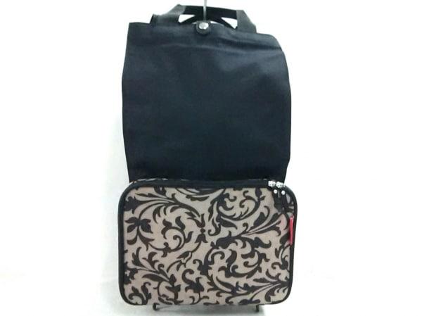 ライゼンタール キャリーバッグ ベージュ×黒 折りたたみ 化学繊維×プラスチック