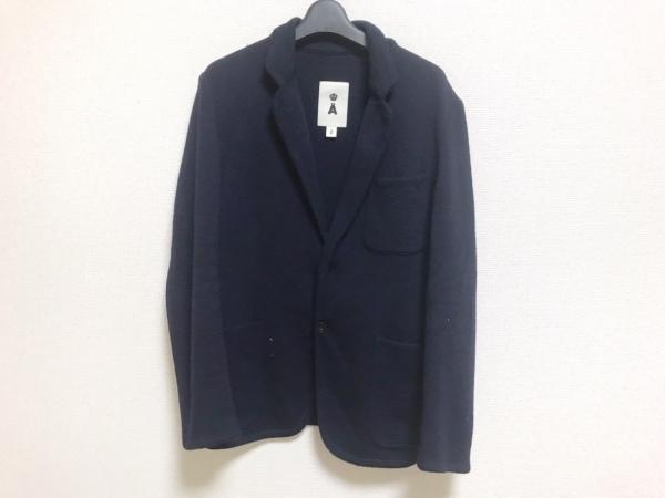 A(エイス) ジャケット サイズ2 M メンズ ネイビー ニット