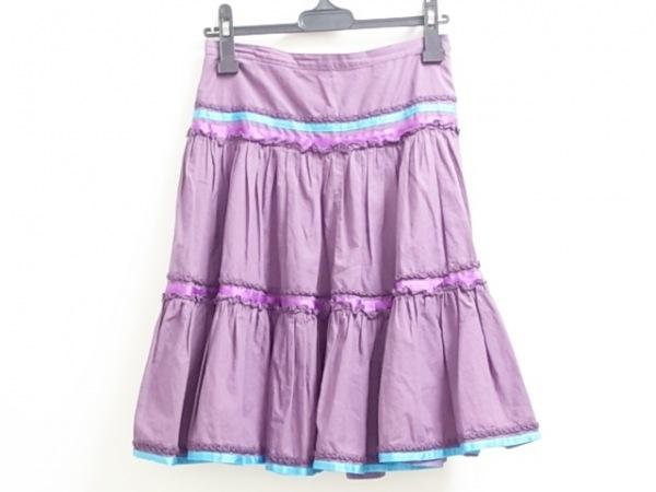 ETRO(エトロ) スカート サイズ40 M レディース パープル×ライトブルー