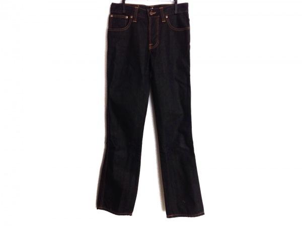 NudieJeans(ヌーディージーンズ) ジーンズ サイズ28 L レディース ネイビー×オレンジ