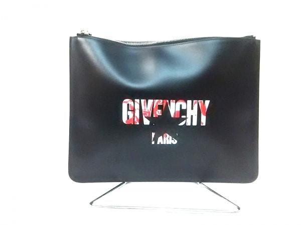 GIVENCHY(ジバンシー) セカンドバッグ - 黒×白×レッド スター レザー