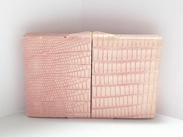 GIORGIOFEDON(ジョルジオフェドン) 名刺入れ ピンク 型押し加工 合皮