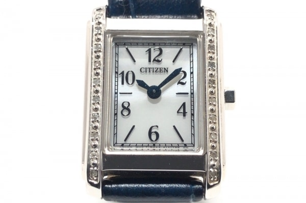 CITIZEN(シチズン) 腕時計 B023-S041996 レディース 革ベルト 白