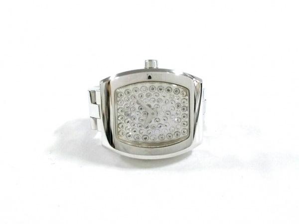 4℃(ヨンドシー) リング美品  金属素材×ラインストーン シルバー