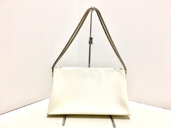 ジバンシー ショルダーバッグ - アイボリー PVC(塩化ビニール)×金属素材